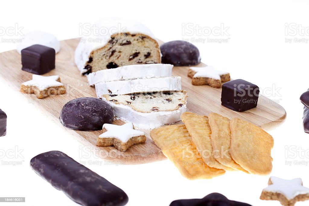 German Christmas stollen and pastry stock photo