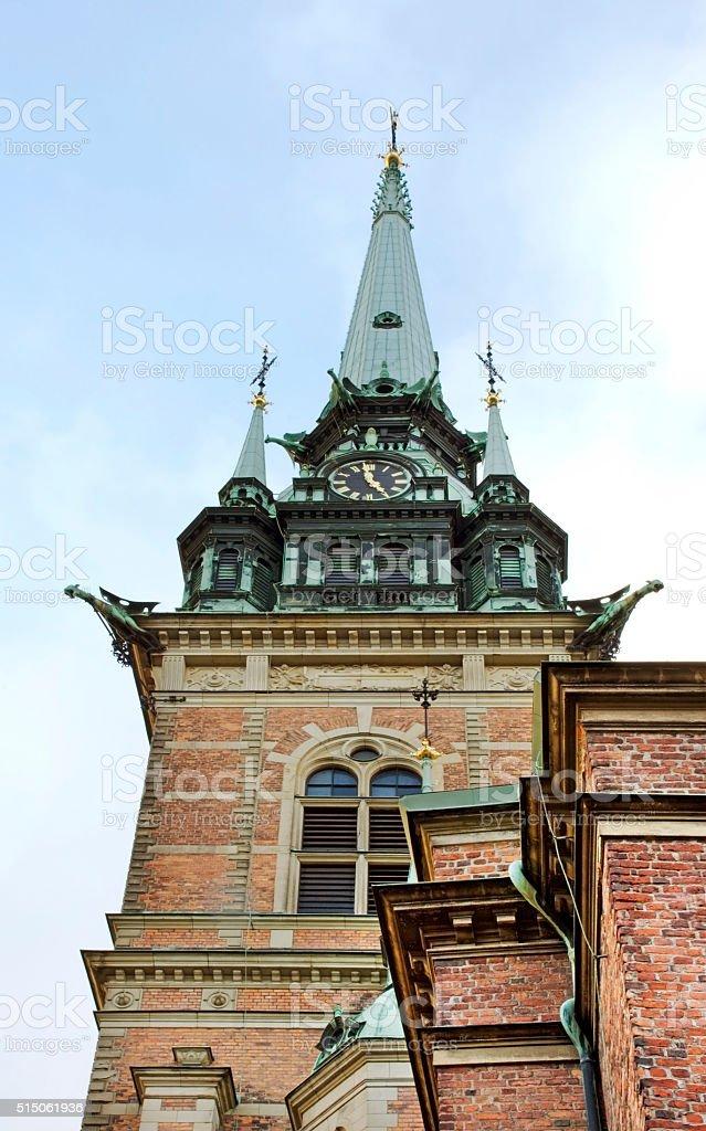 German church in Stockholm. Sweden stock photo