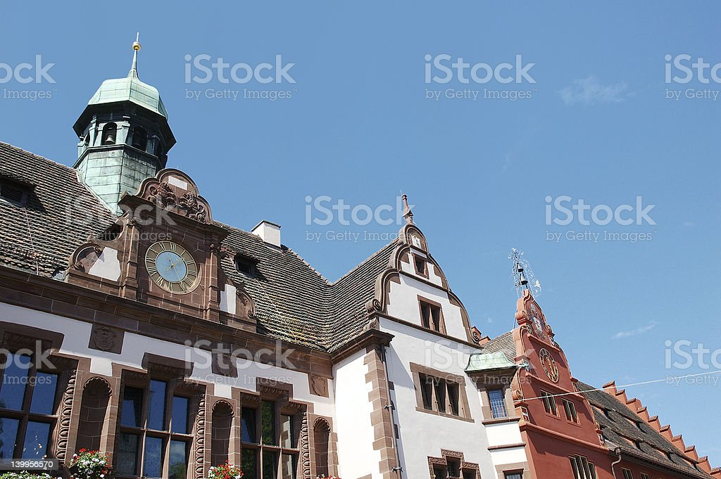 german city hall royalty-free stock photo