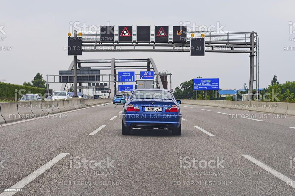 German city motorway A113 royalty-free stock photo