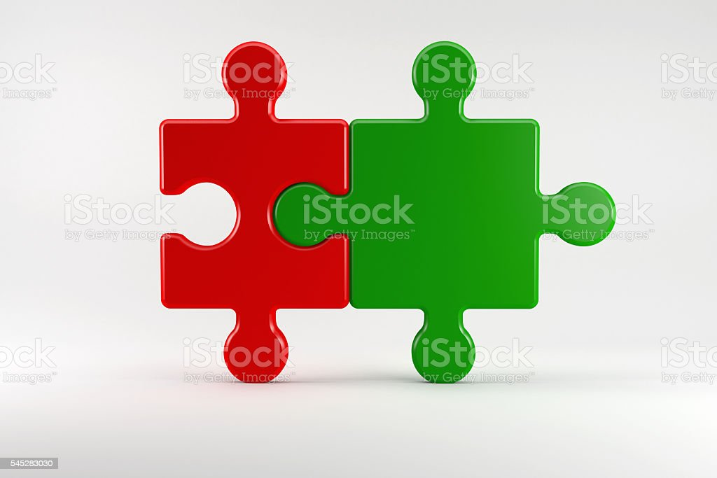 German coalition partners in the Color of their parties stock photo