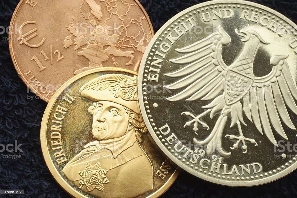 German coins stock photo