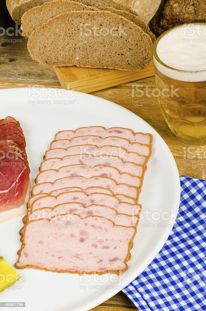German cold meal stock photo