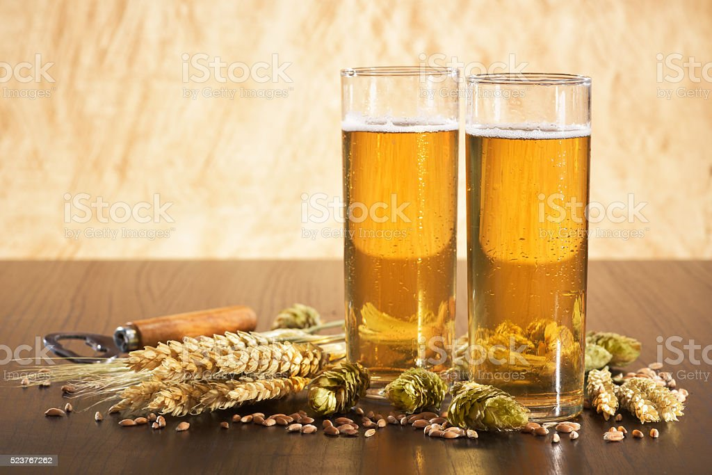 German Cologne beer glass stock photo