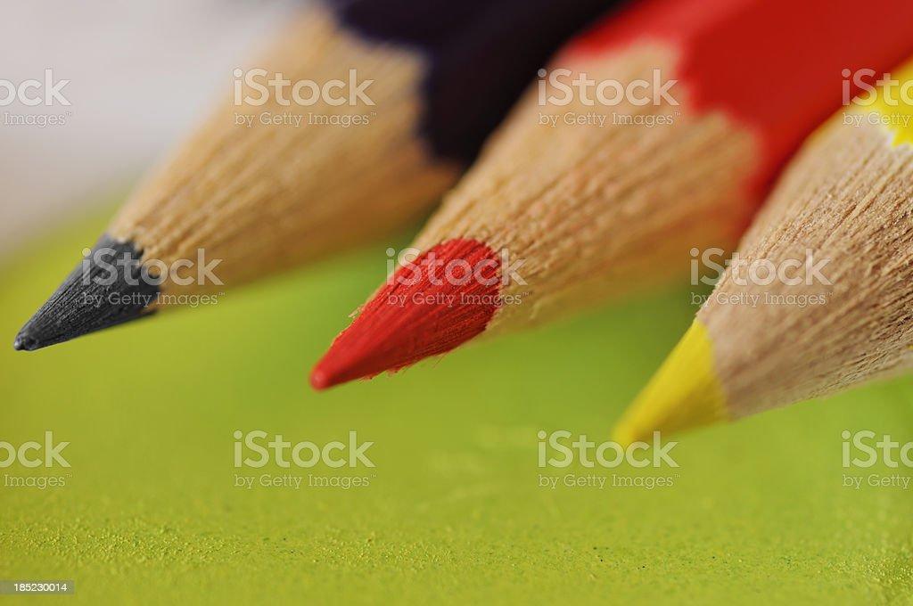 German Coloured Pencils stock photo