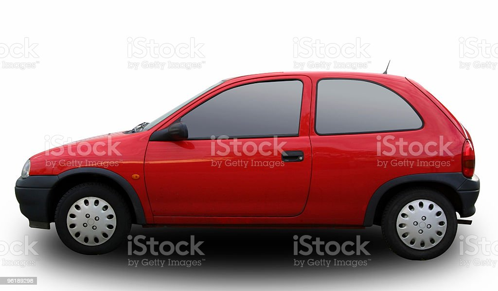 German compact car (clipping path) stock photo