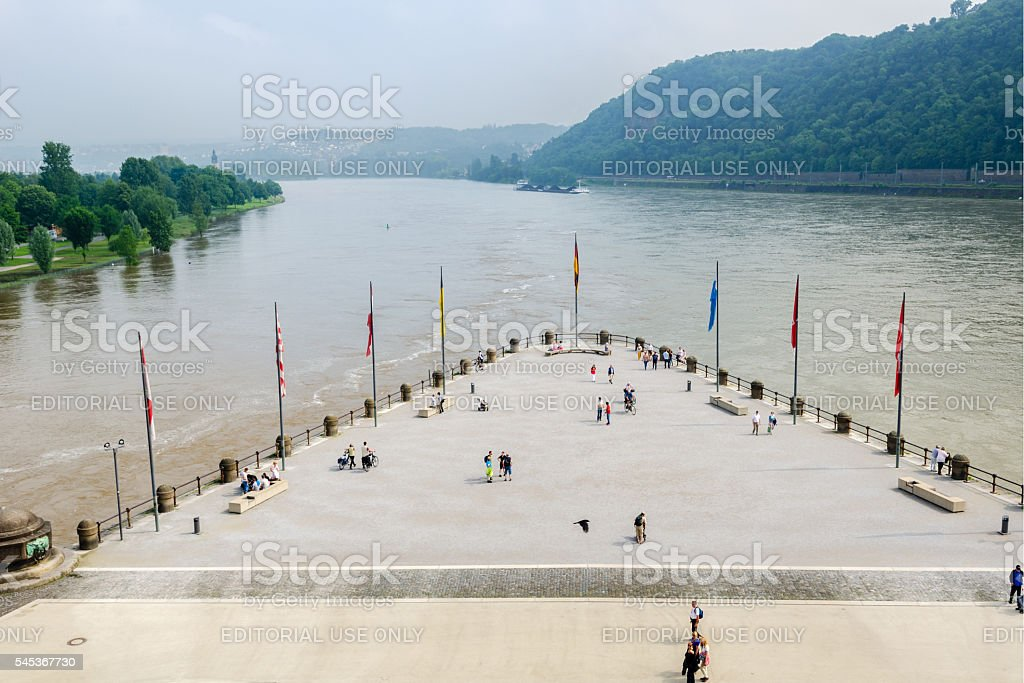 German Corner, Koblenz, Germany stock photo