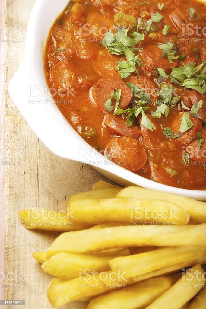 german currywurst stock photo