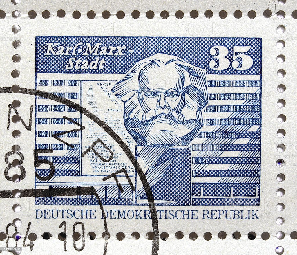 German DDR stamps royalty-free stock photo