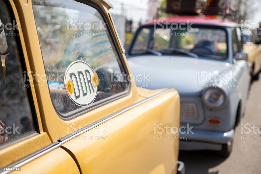german ddr trabant car stock photo