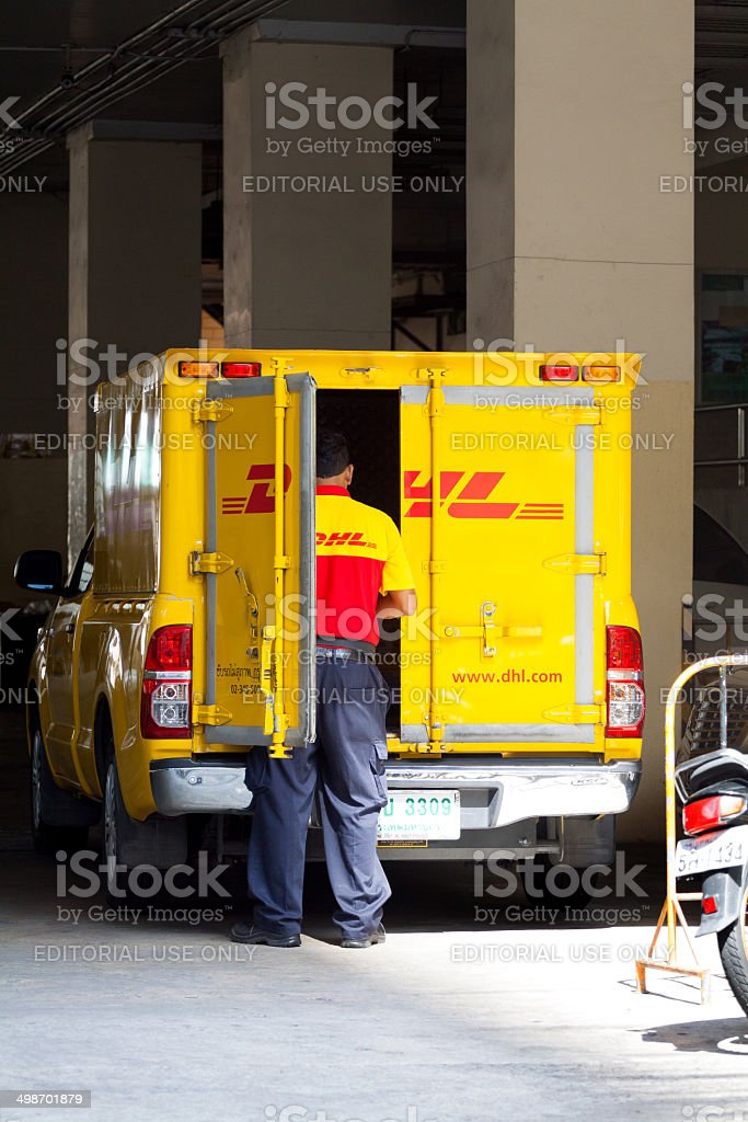 German DHL in Bangkok royalty-free stock photo