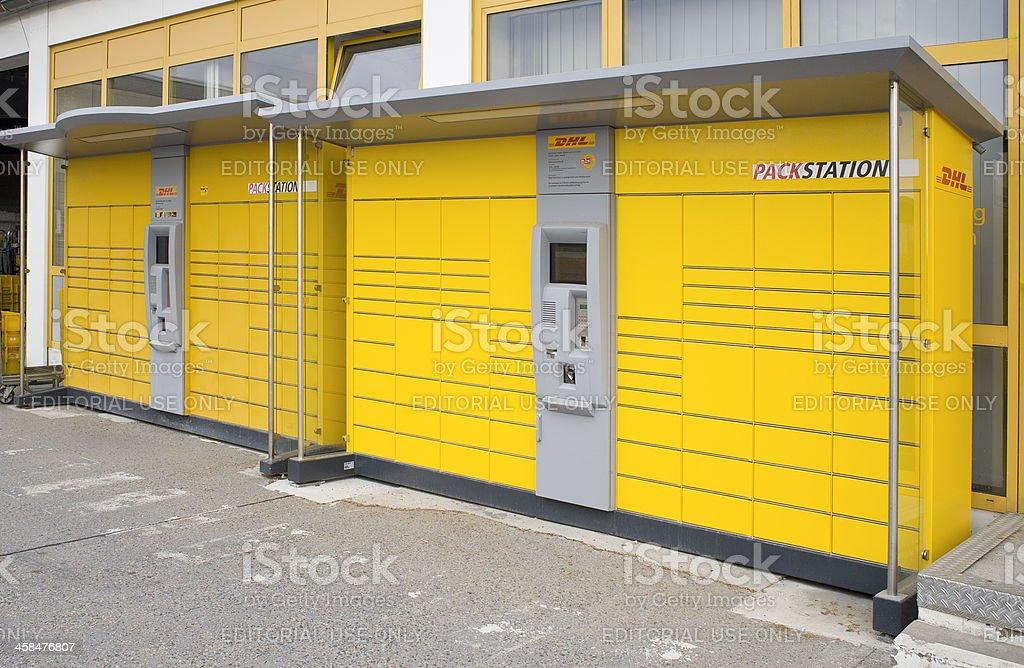 German DHL Packstation royalty-free stock photo