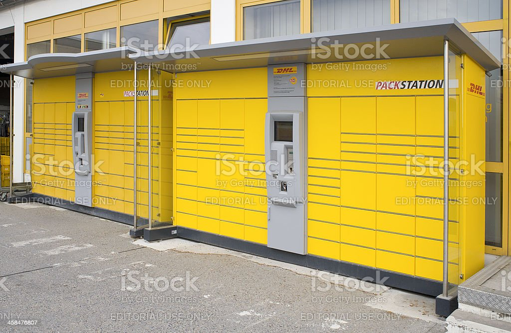 German DHL Packstation stock photo