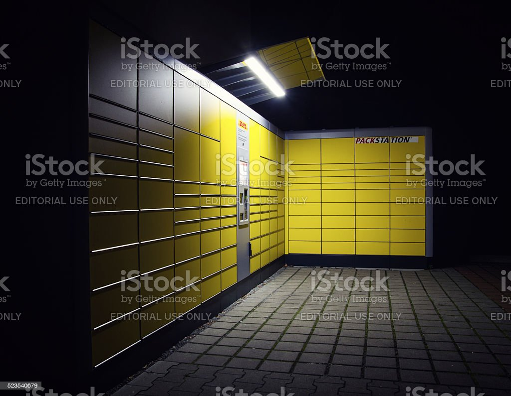 German DHL Packstation stock photo