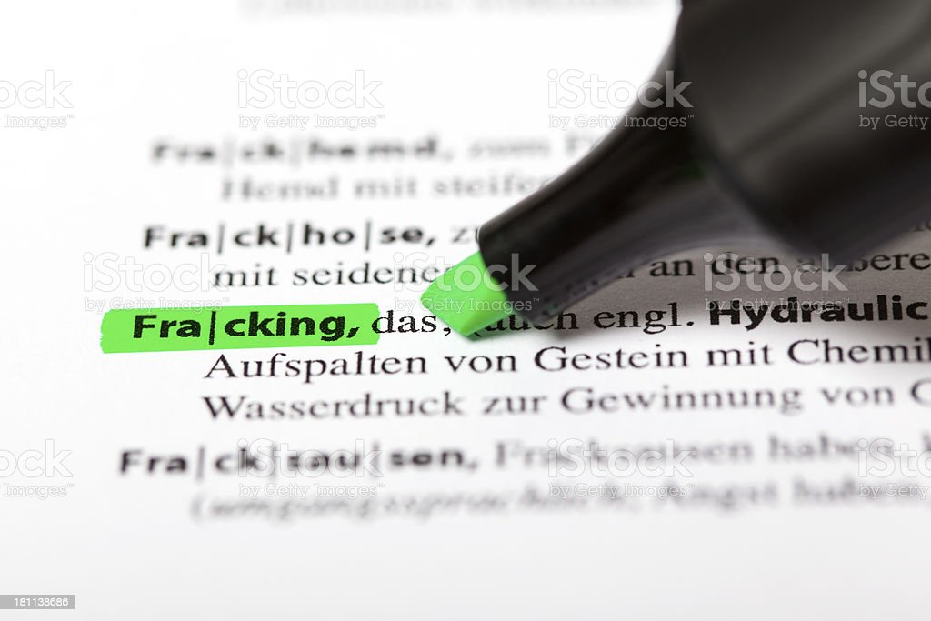 German dictionary text - Fracking royalty-free stock photo