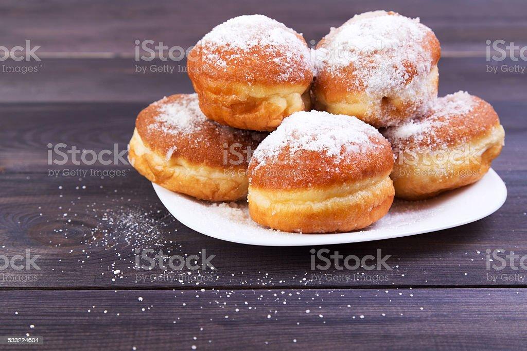German donuts - berliner stock photo