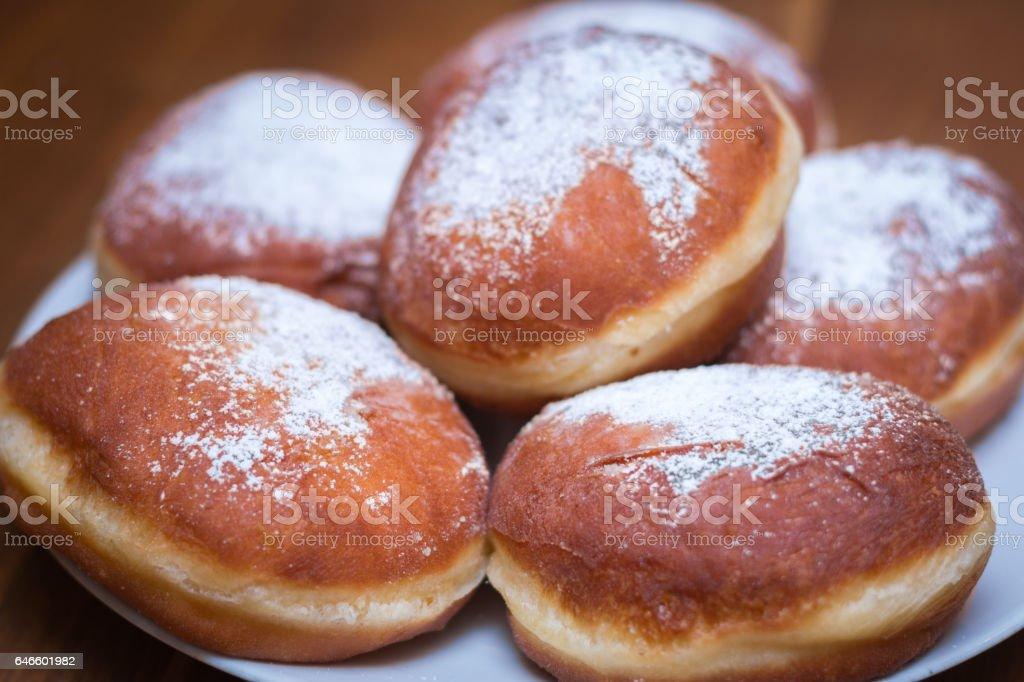 German donuts stock photo