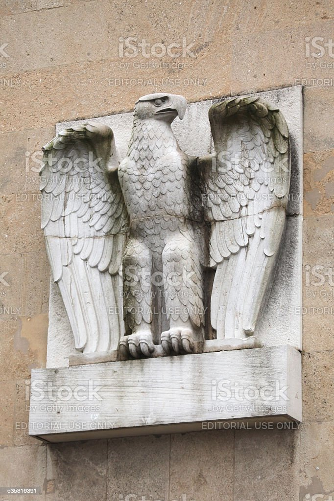German Eagle on the Tempelhof Airport in Berlin, Germany. stock photo