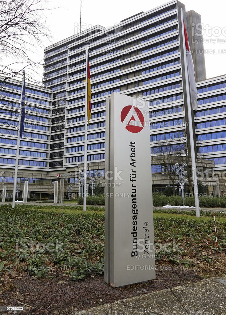 german employment center - headquarters stock photo