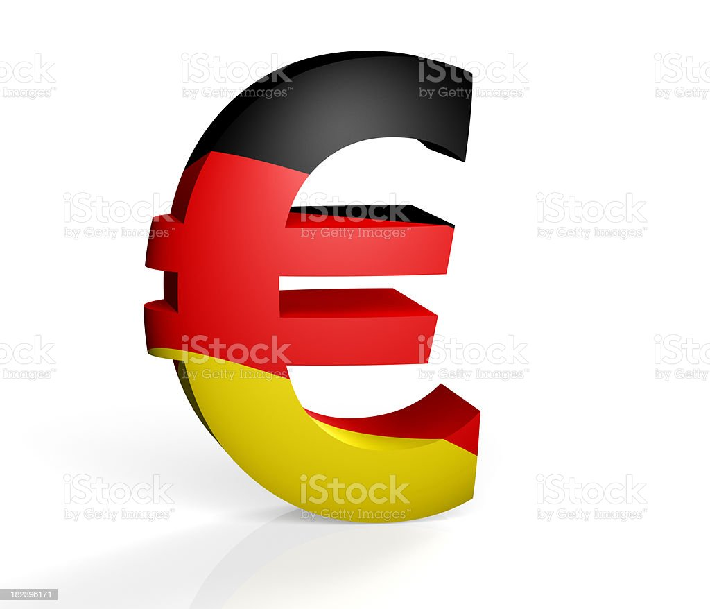 German Euro royalty-free stock photo