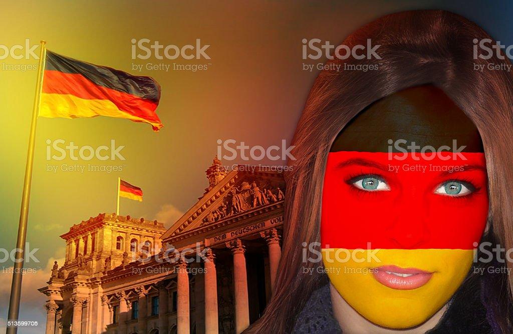 German fan patriots stock photo