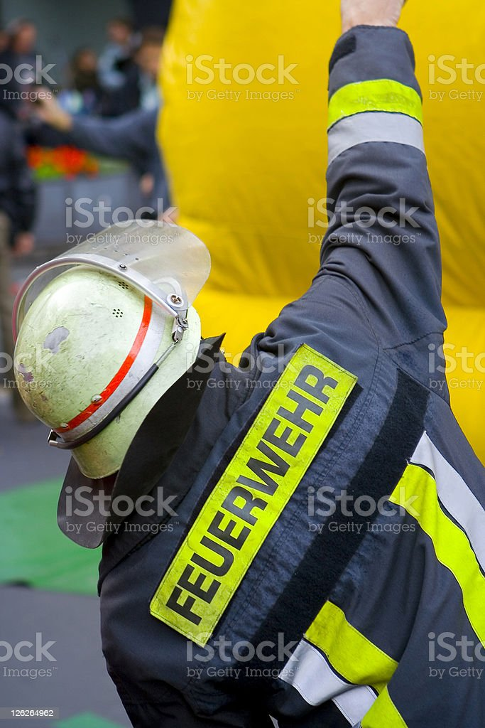 German Fire Fighter stock photo