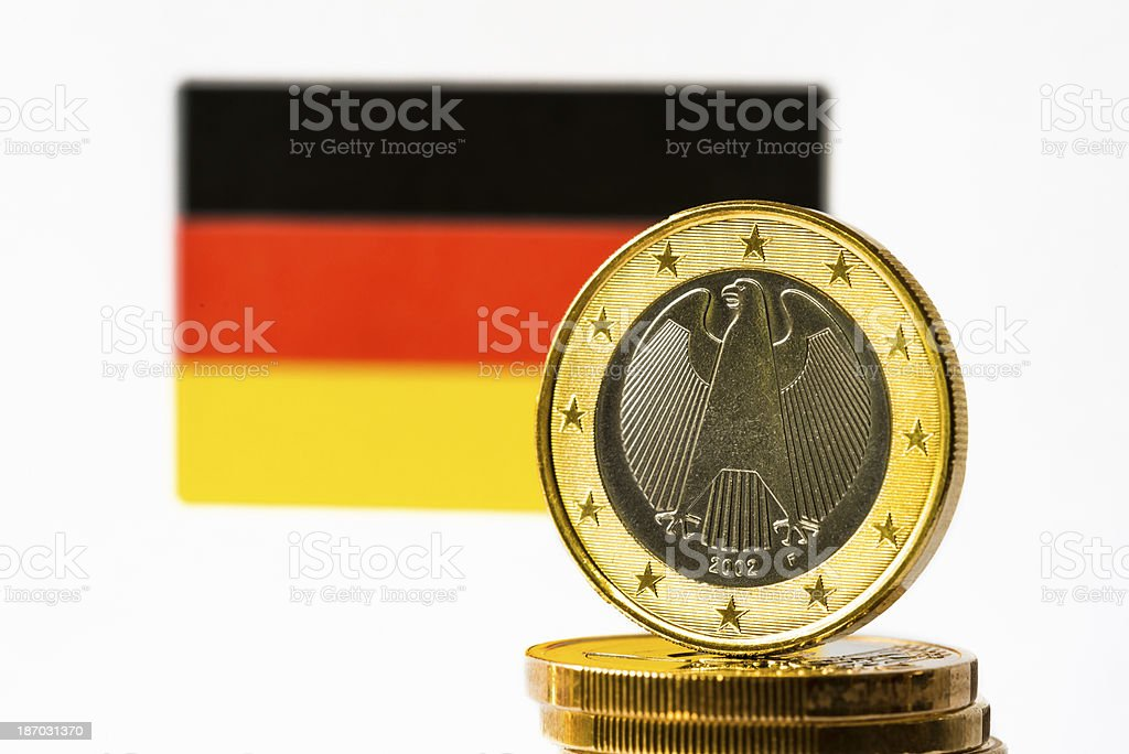German Flag and Euro royalty-free stock photo