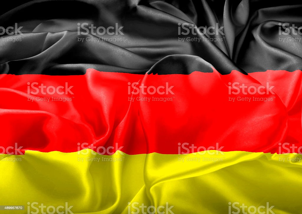 German Flag and heart stock photo