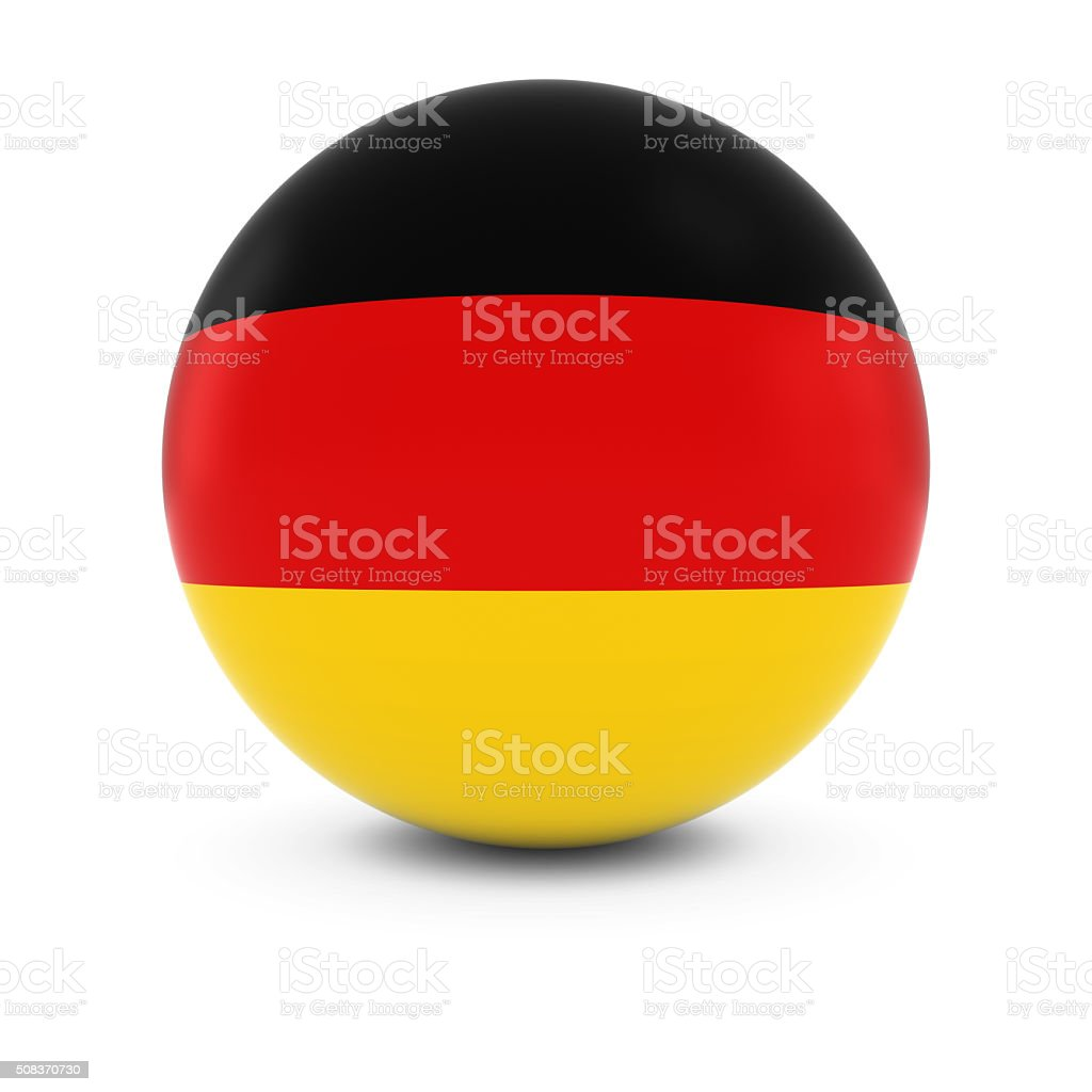 German Flag Ball - Flag of Germany on Isolated Sphere stock photo