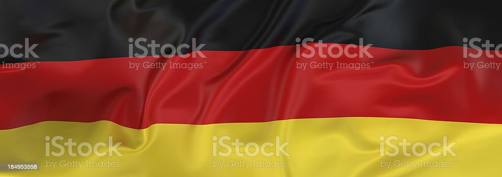 German Flag banner royalty-free stock photo