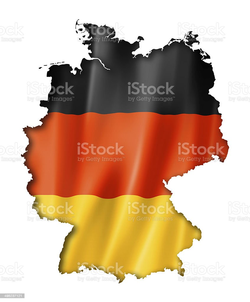 German flag map stock photo