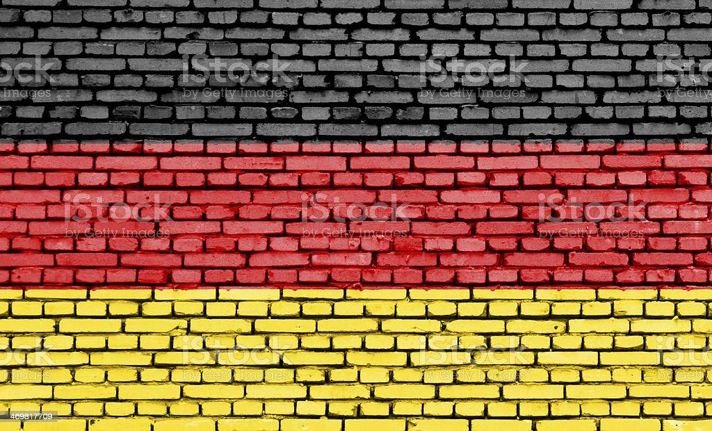 German Flag on a brick wall. royalty-free stock photo