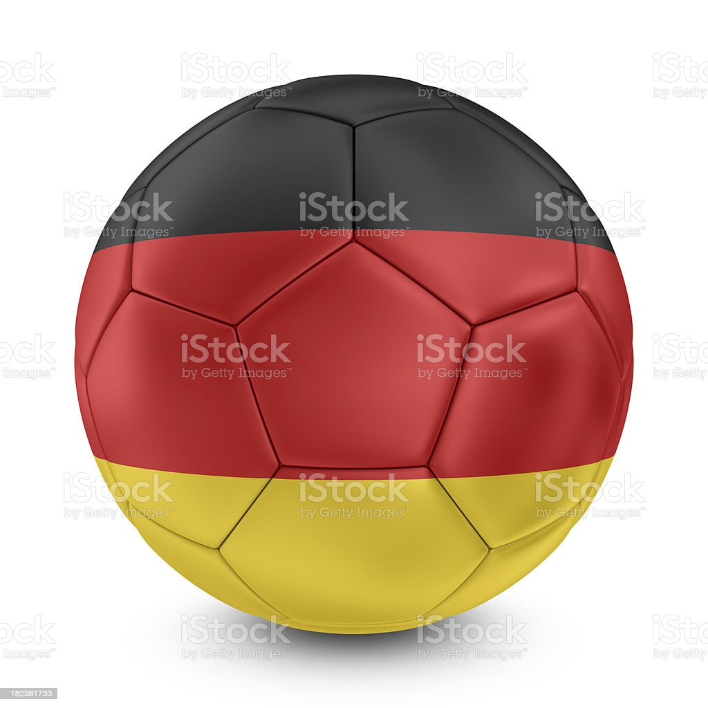 german flag on football royalty-free stock photo