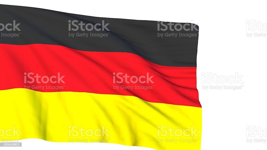 German flag on white background stock photo