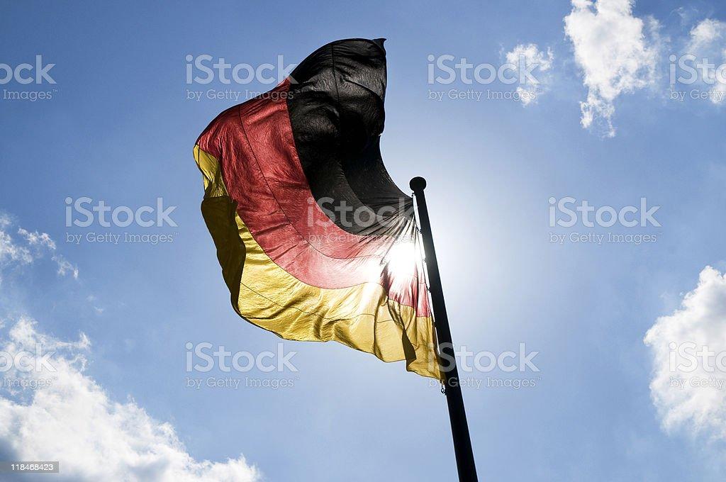Bandeira Alemã foto royalty-free
