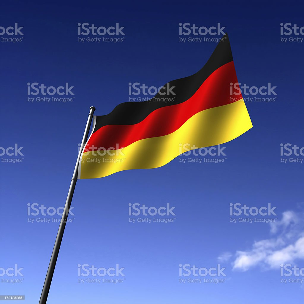 German Flag royalty-free stock photo