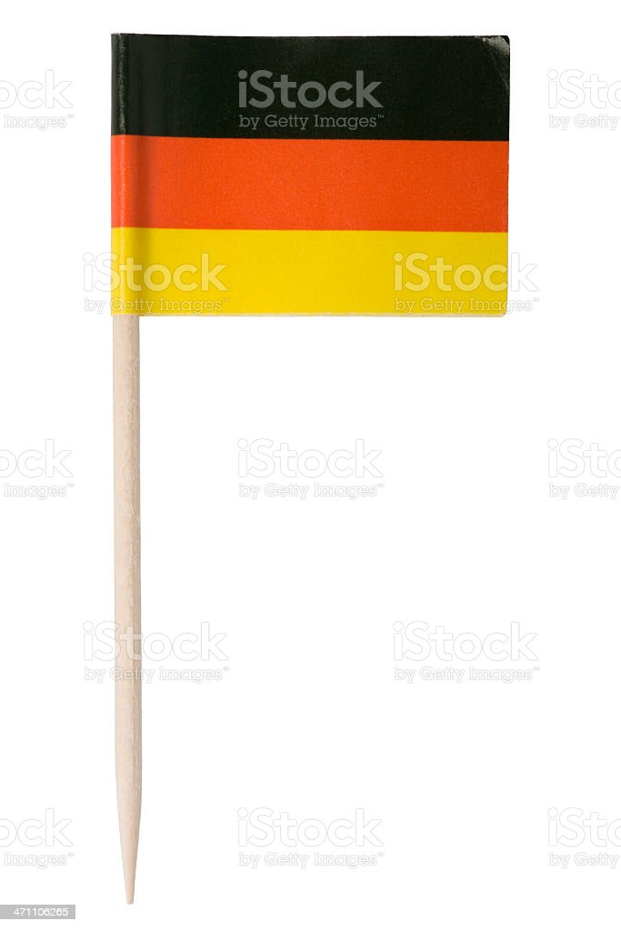 German flag toothpick (XL) royalty-free stock photo