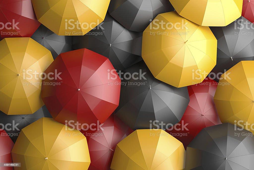 german flag umbrellas stock photo