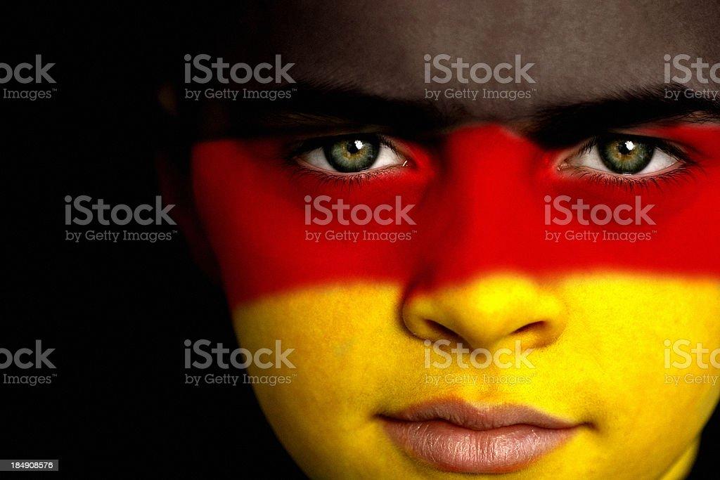 German football fan royalty-free stock photo