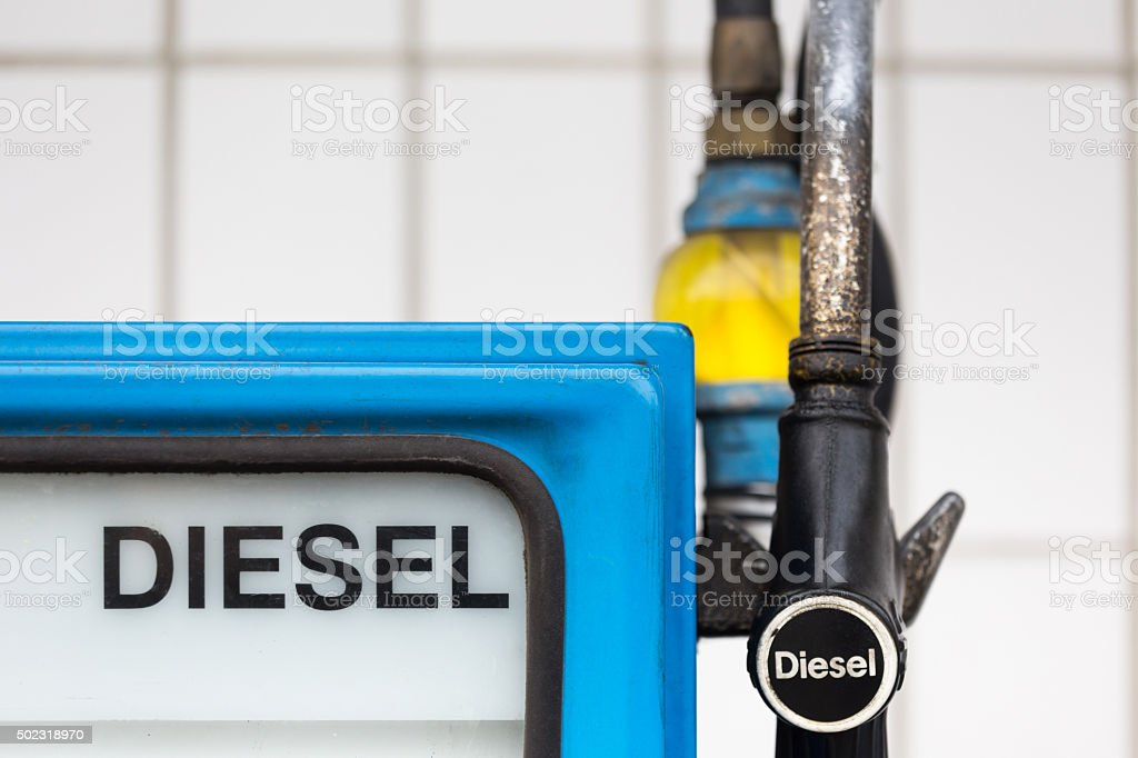 german gas station diesel stock photo