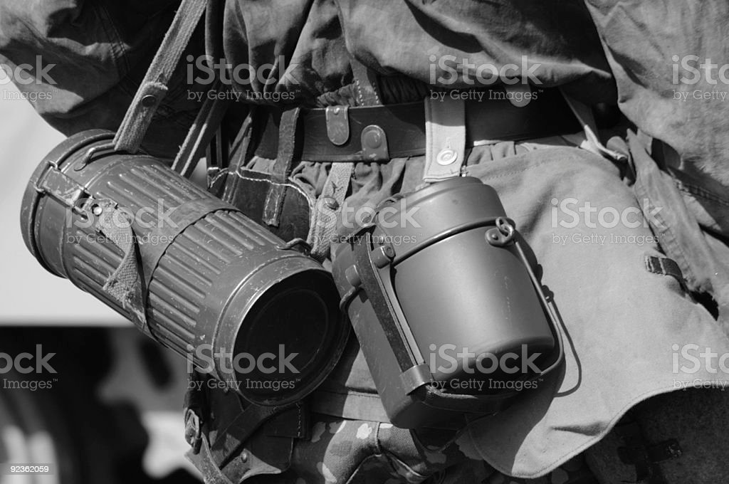 WW2 German gasmask cannister royalty-free stock photo