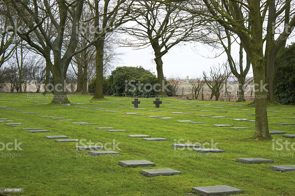 German great world war 1  flanders fields belgium Cemetery stock photo