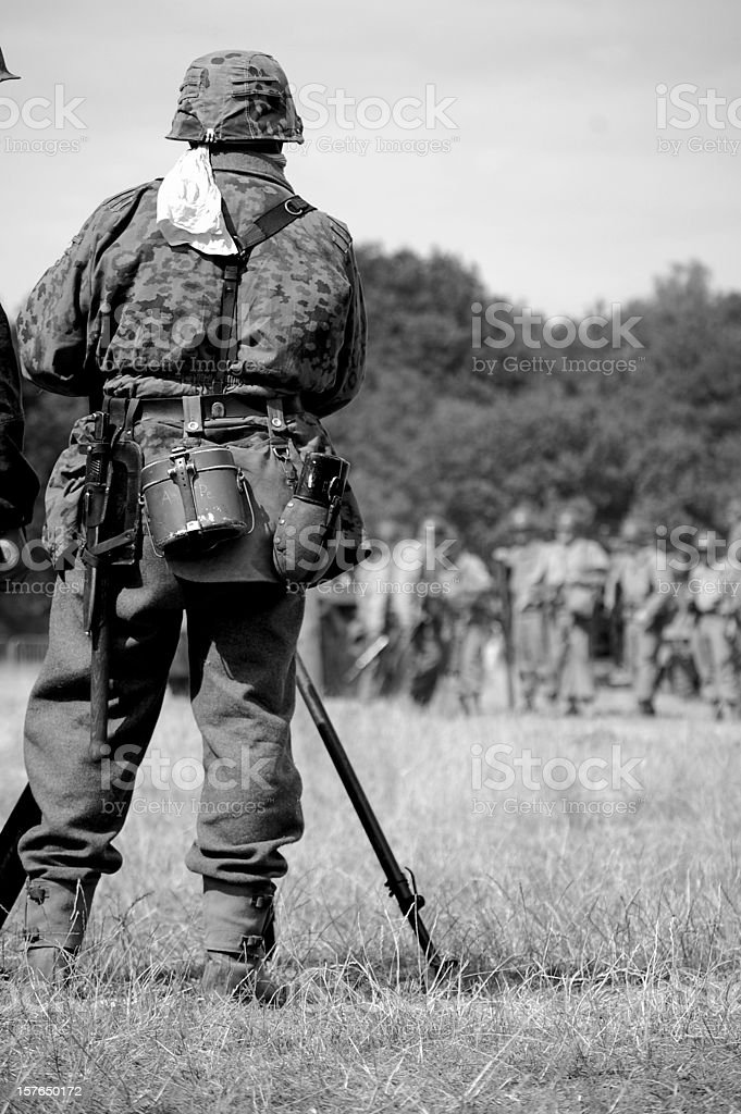 WW2 German Guard. stock photo