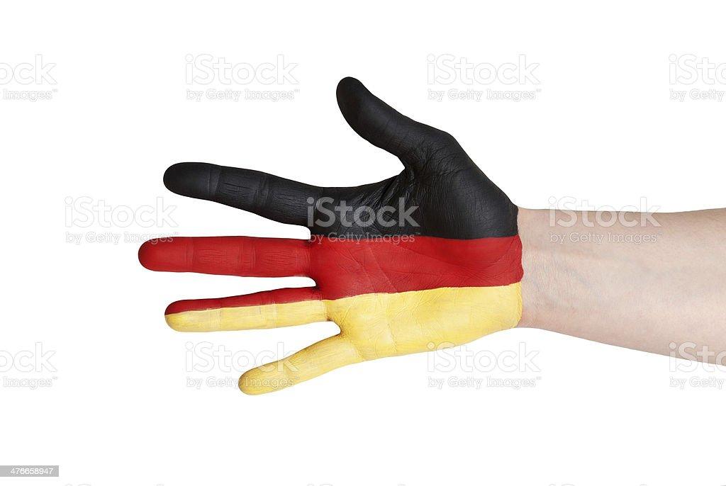 german hand royalty-free stock photo