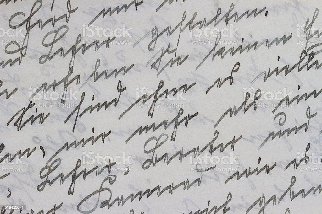 Deutsche Handschrift von 1919-Detail – Foto