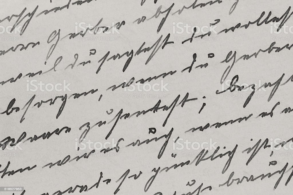 Deutsche Handschrift-Stil von 1919 – Foto