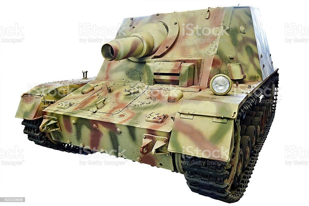 German Heavy assault gun Sturmpanzer 43 Brummbär Grizzly isolat stock photo