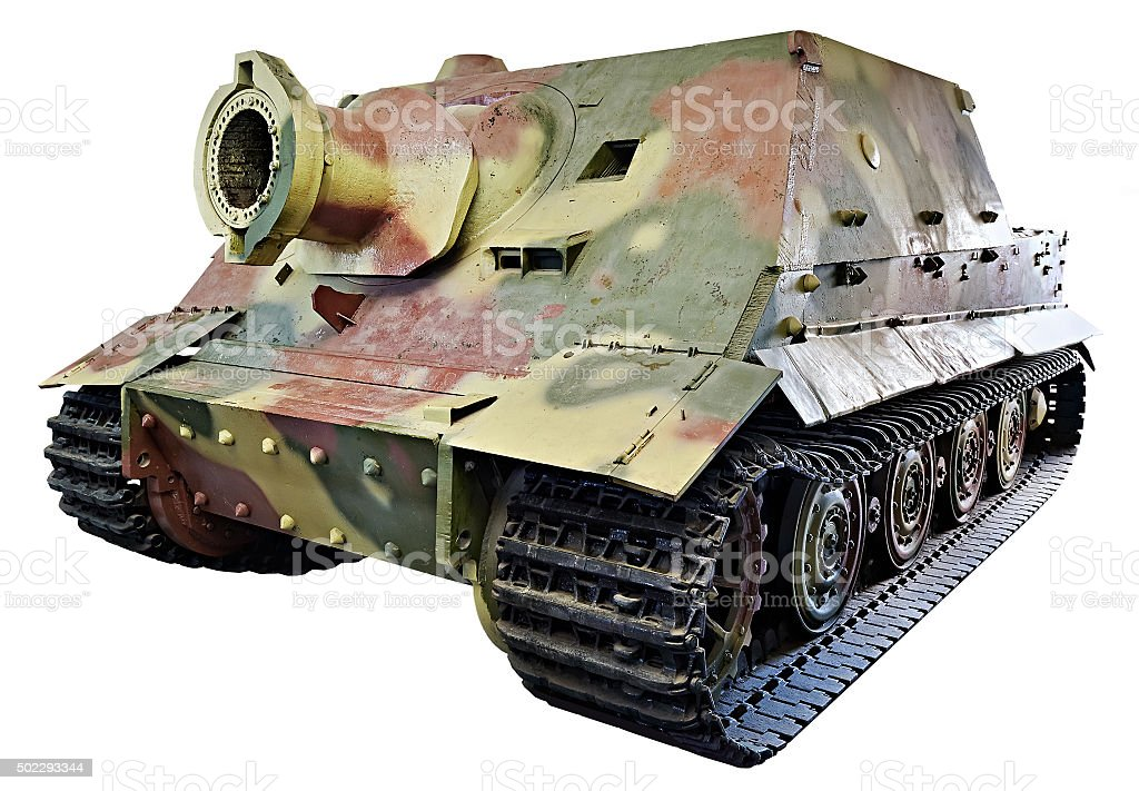 German Heavy assault gun Sturmtiger isolated stock photo