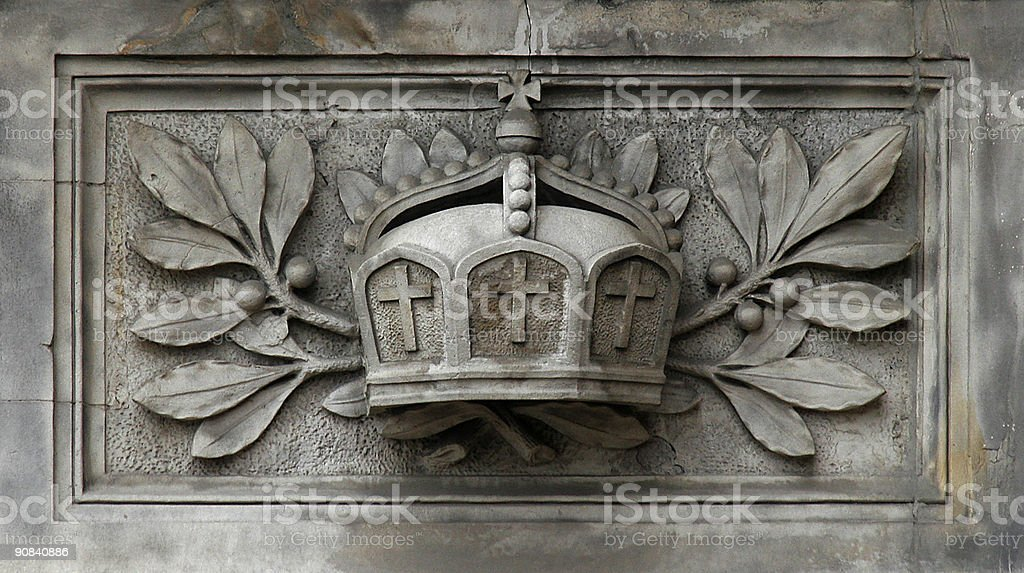 German Imperial Crown. royalty-free stock photo