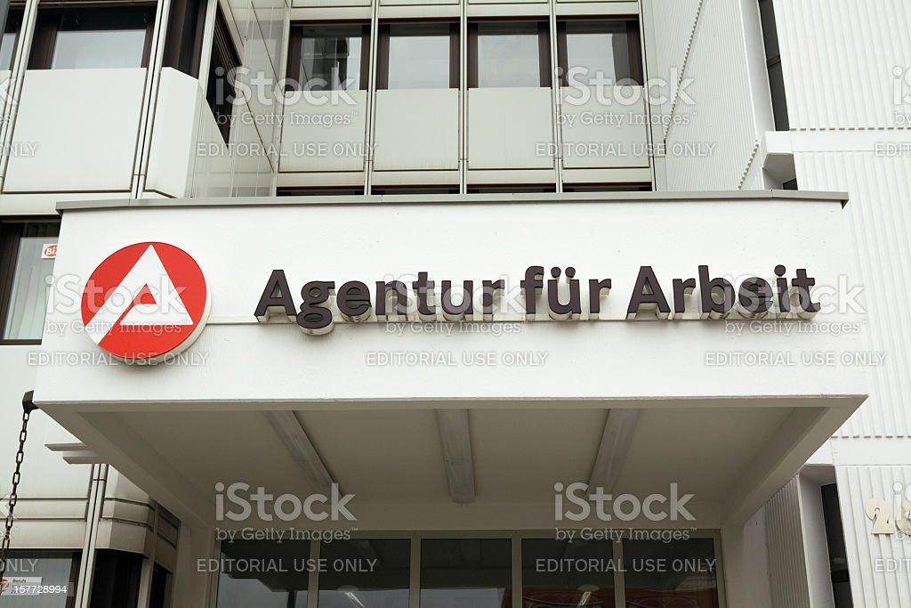 German job agency: Agentur für Arbeit stock photo